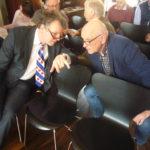 Lêzing dr. Hajo van Lengen yn it Forum fan it Ostfriesische Landschaft, Auwerk. Arno Ulrichs en Anton van der Ploeg